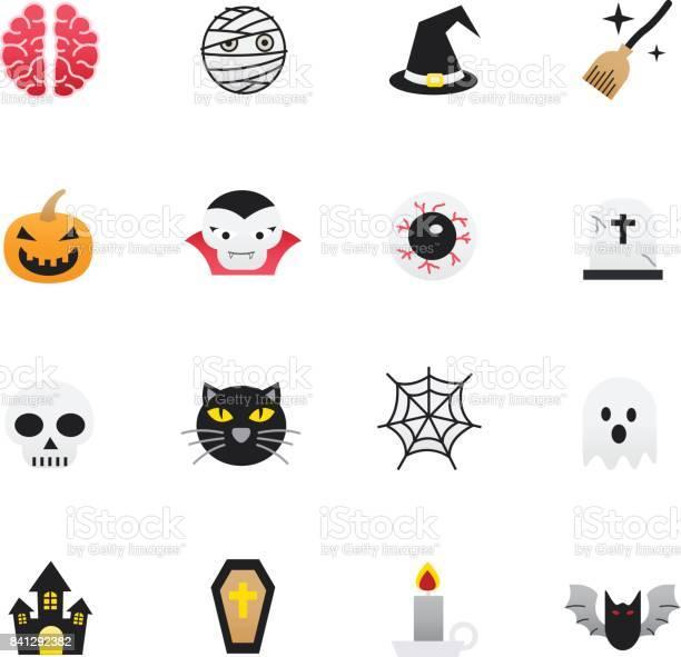 Halloween icons set of holidays icons vector illustration color icons vector id841292382?b=1&k=6&m=841292382&s=612x612&h=ayvcopi49q7igtp jfkgu4rs7infrddgtaqen64gxqc=