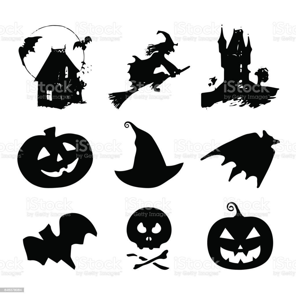 ハロウィンのアイコン標識10 月 31 日の夜のベクター イラストですすべての聖人の日の要素のコレクション お祝いのベクターアート素材や画像を多数ご用意 Istock