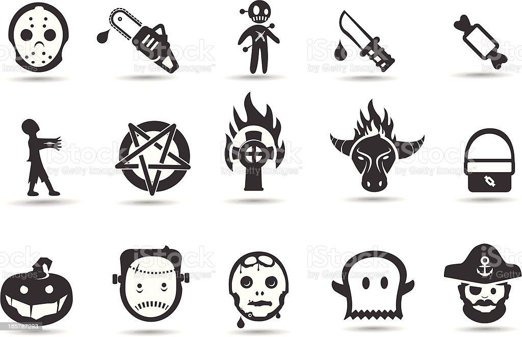 Halloween Icons royalty-free stock vector art