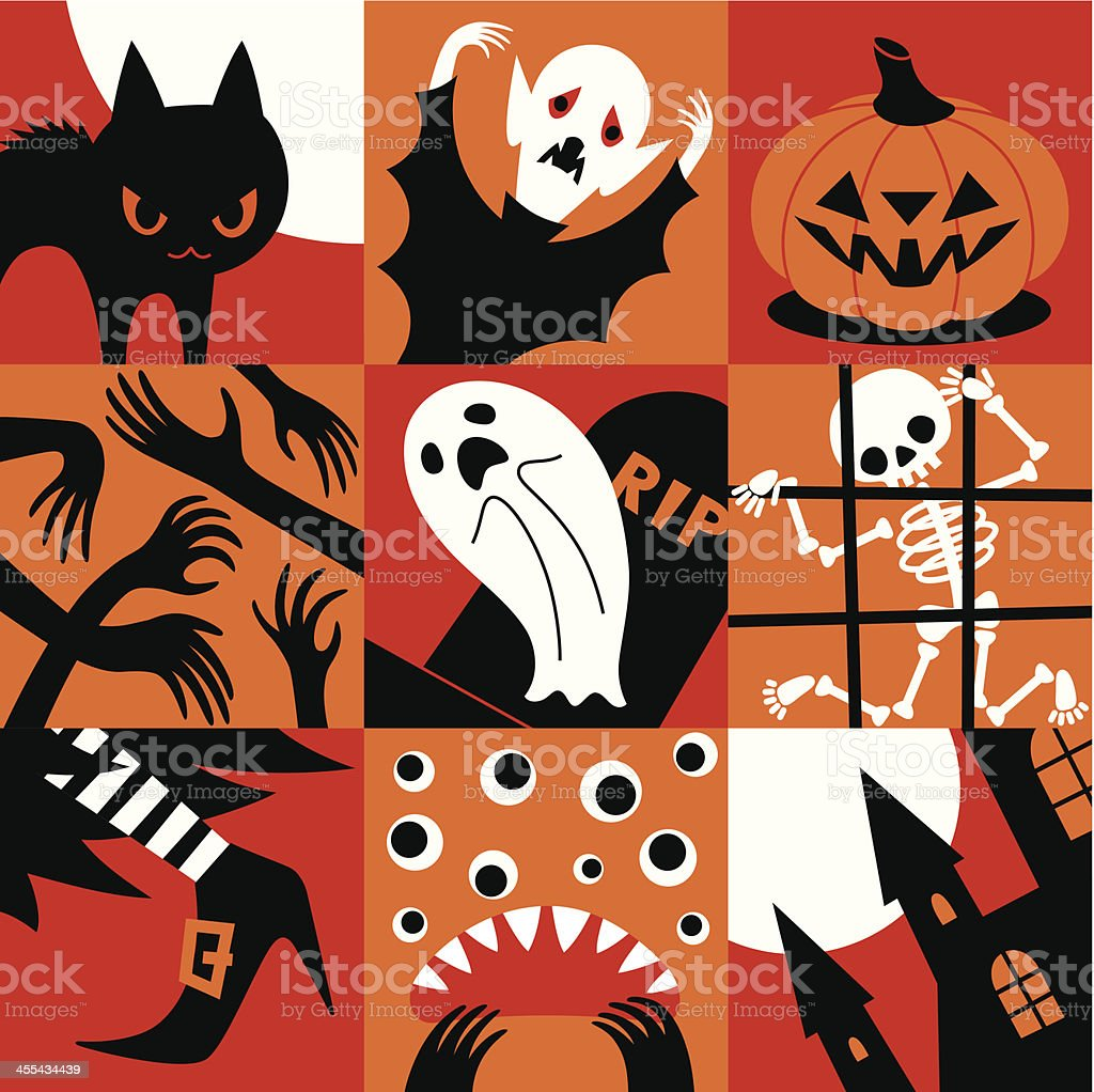 Halloween icons. royalty-free stock vector art
