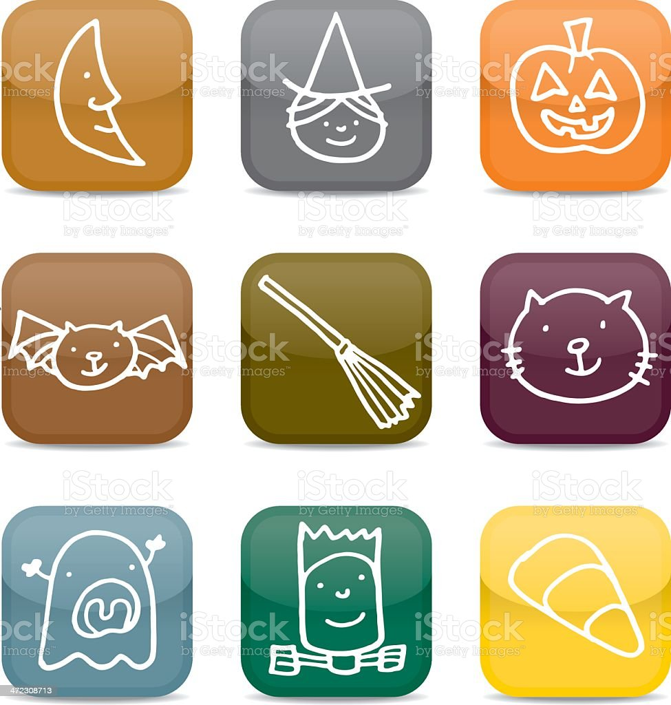 Halloween icons royalty-free halloween icons stock vector art & more images of bat - animal