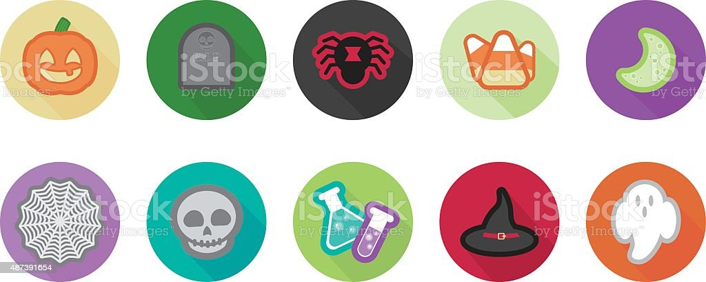 Halloween Icons royalty-free halloween icons stock vector art & more images of 2015