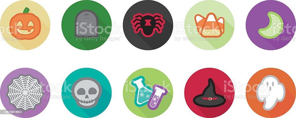 Halloween Icons vector art illustration