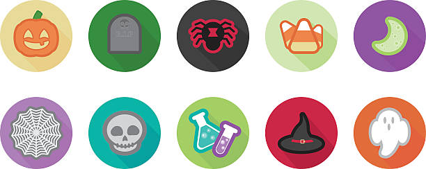 Halloween Icons vector art illustration