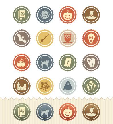 Halloween Icons : Vintage Badge Series