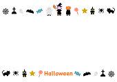 Halloween illustration: frame