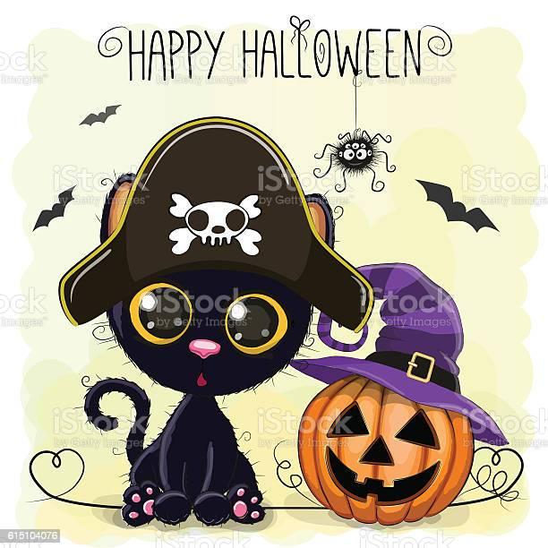 Halloween illustration of cartoon black cat vector id615104076?b=1&k=6&m=615104076&s=612x612&h=qij0zfki4ar j avobfxivkz5 zdnakaao9us2ax5ho=