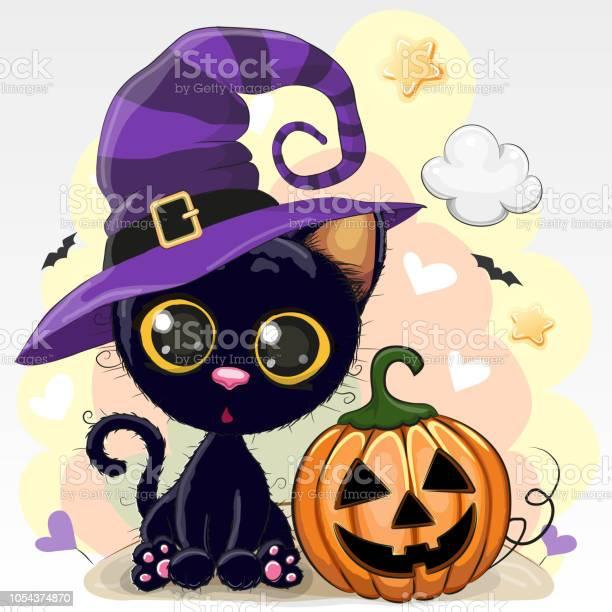 Halloween illustration of cartoon cat with pumpkin vector id1054374870?b=1&k=6&m=1054374870&s=612x612&h=drgki8ka5pp4ljpyvlj4gokmpst0zt1pfiemxghjrfk=