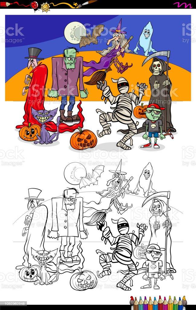 Ilustración de Ilustración De Halloween Con El Libro De Color De ...