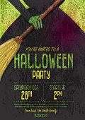 istock Halloween Invitation template design 848420722