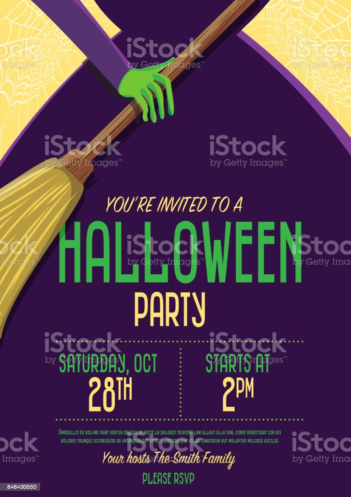 halloween invitation template design stock vector art 848430550 istock
