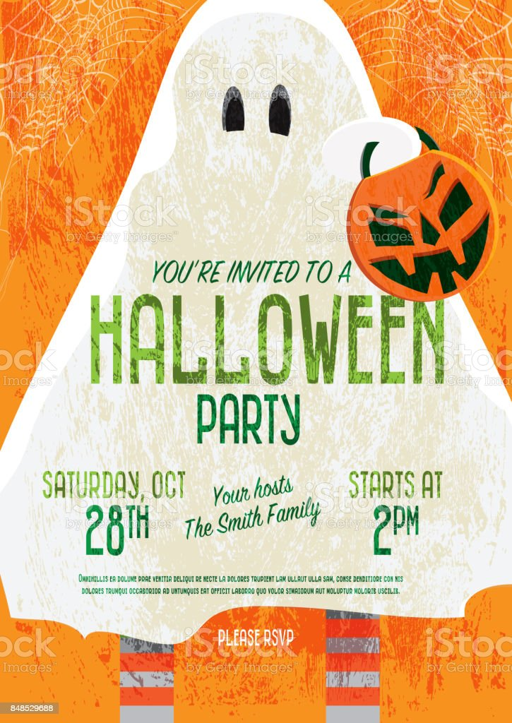 halloween invitation template design stock vector art more images