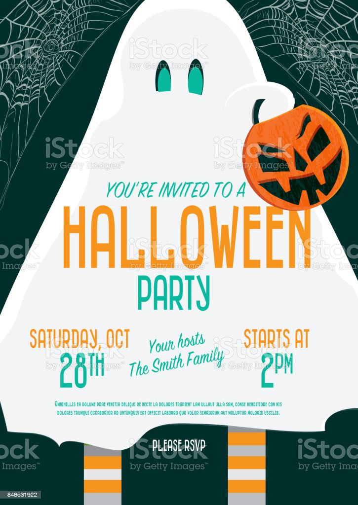 halloween invitation template design stock vector art 848531922 istock