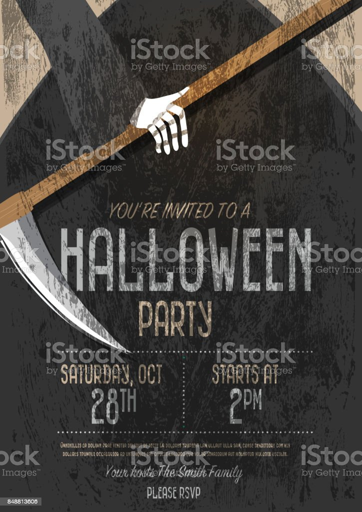 halloween invitation template design stock vector art 848813606 istock