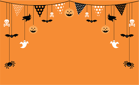 Halloween Invite with Bunting and Icons