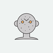 Halloween Jason mask colored icon. One of the Halloween collection icons for websites, web design, mobile app