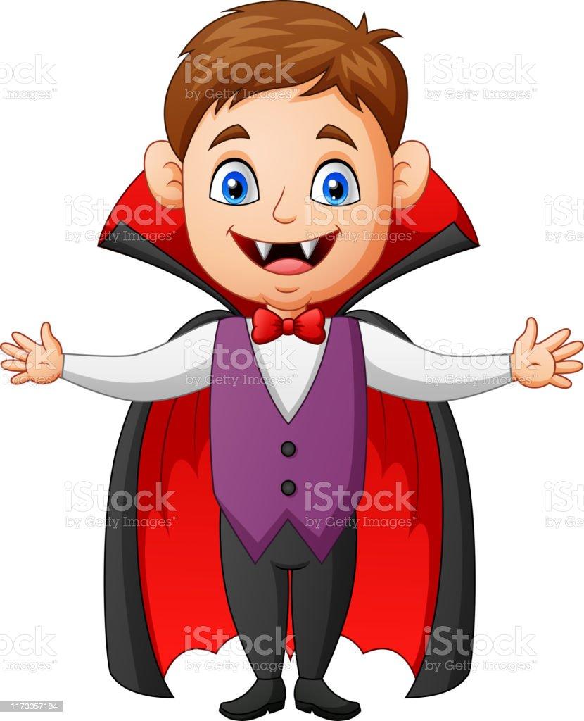Halloween Kid Vampire Cartoon Stock Illustration Download Image Now Istock