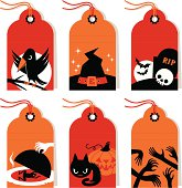 Set of a Halloween Labels.