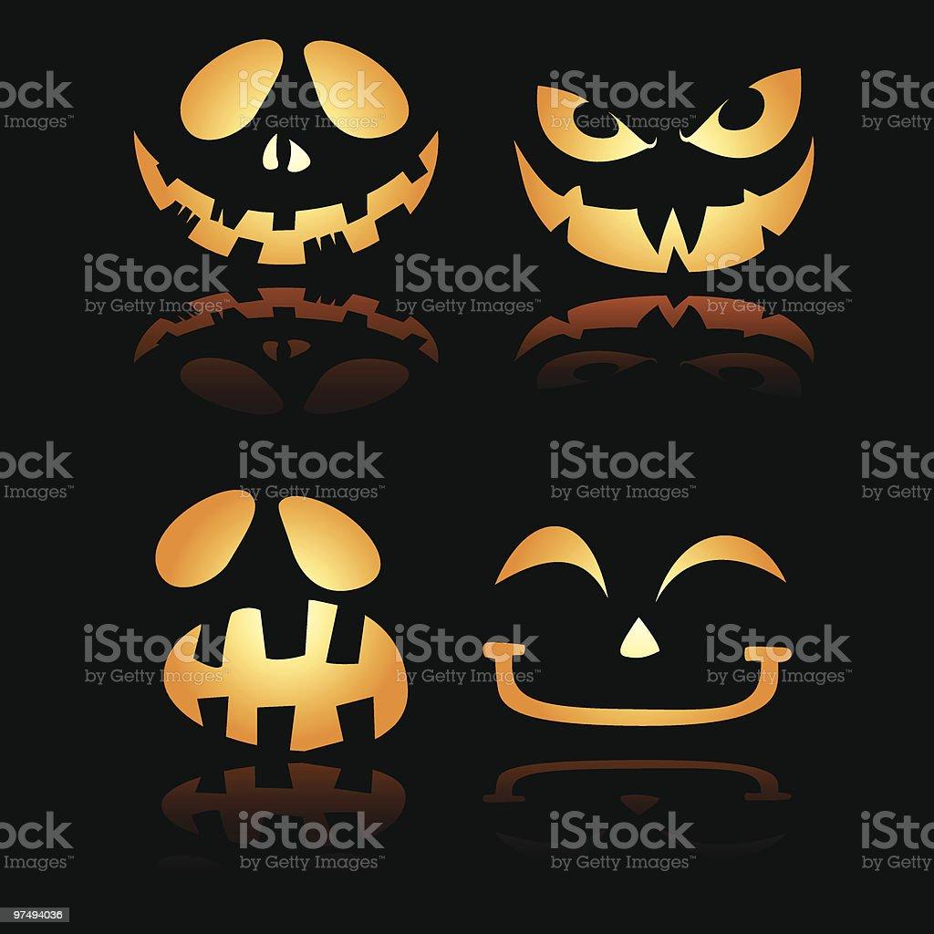 Halloween Lantern Smiles n expression 2 royalty-free halloween lantern smiles n expression 2 stock vector art & more images of black color