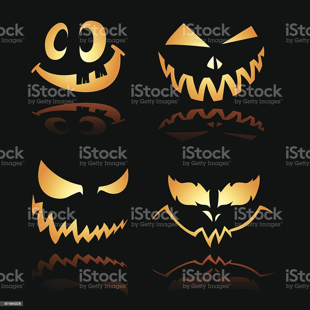 Halloween Lantern Smiles n expression royalty-free halloween lantern smiles n expression stock vector art & more images of black color