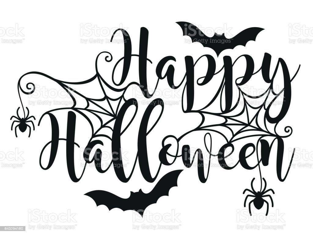 Cartel de Letras de Halloween. - ilustración de arte vectorial