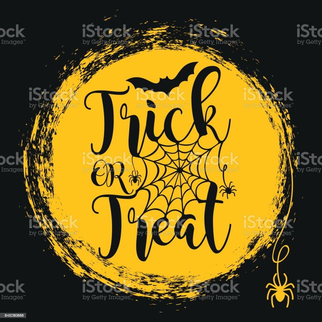 Halloween lettering poster. vector art illustration