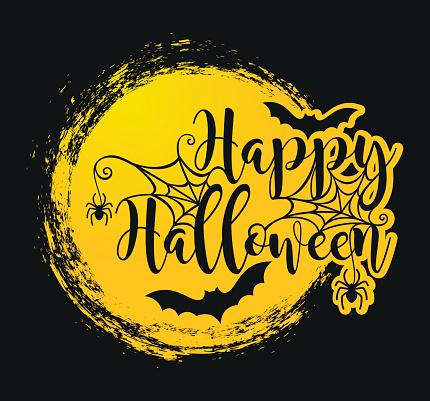 Halloween lettering poster.