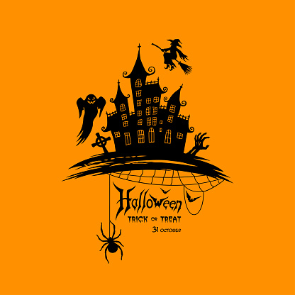 Halloween Lettering with Symbols