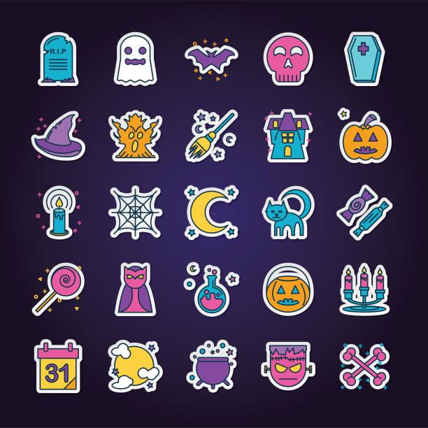Halloween Line Icon Set A simple halloween line icon set. potion stock illustrations