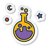 Halloween Line Icon Sticker Potion