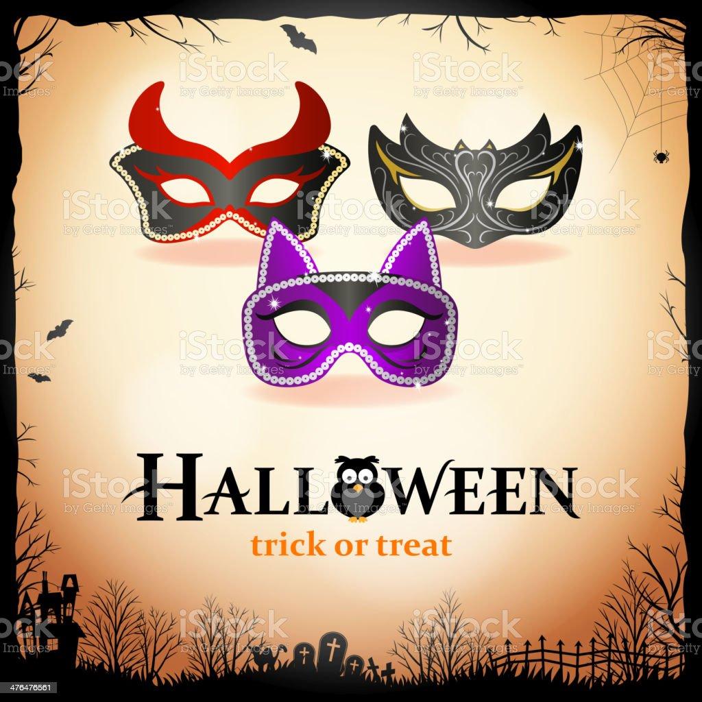 Halloween Masquerade Party royalty-free stock vector art