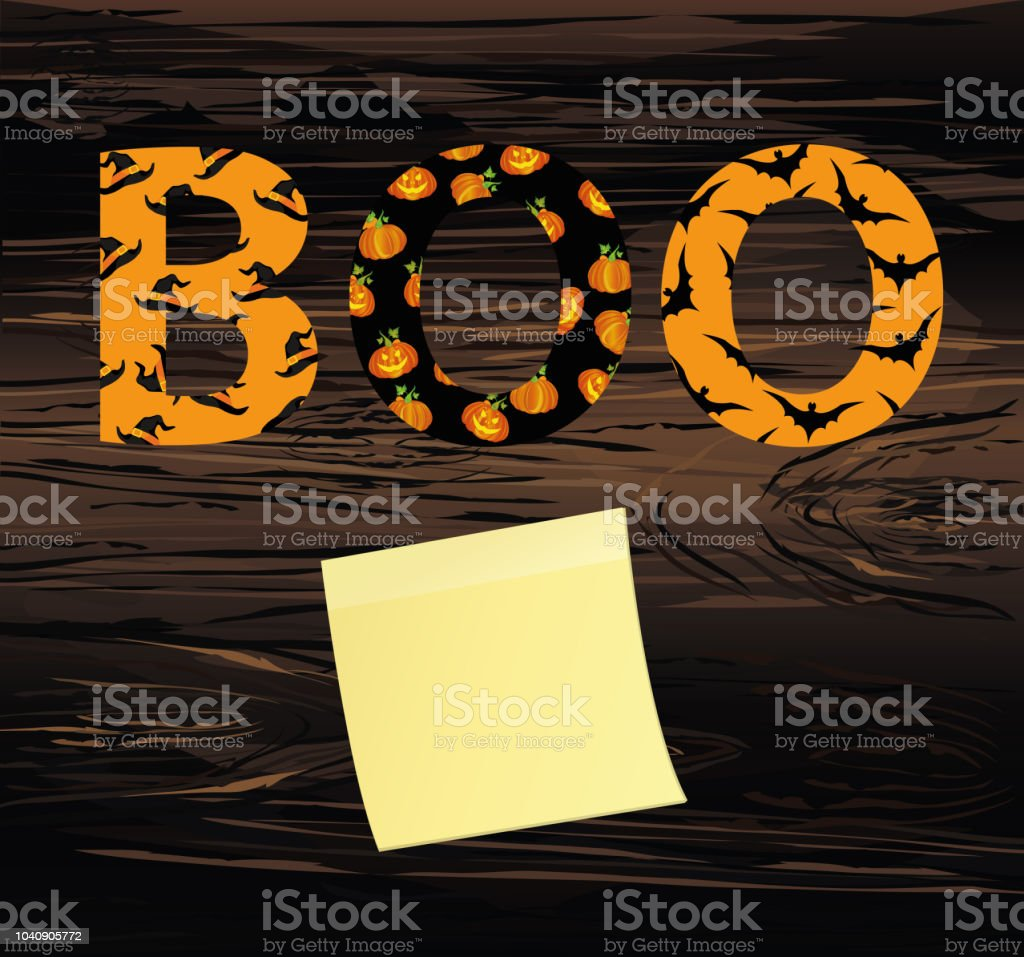 Halloween message boo vector on wooden background words for halloween message boo vector on wooden background words for invitations to a party or m4hsunfo