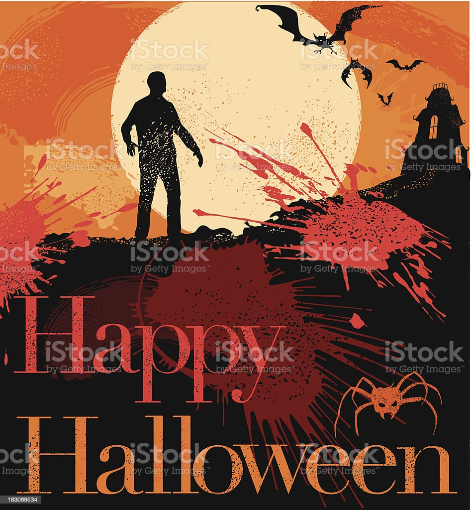 Halloween Message royalty-free stock vector art