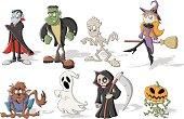 Halloween monster characters
