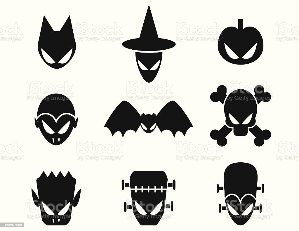 Halloween Monster Icons royalty-free halloween monster icons stock vector art & more images of animal body part