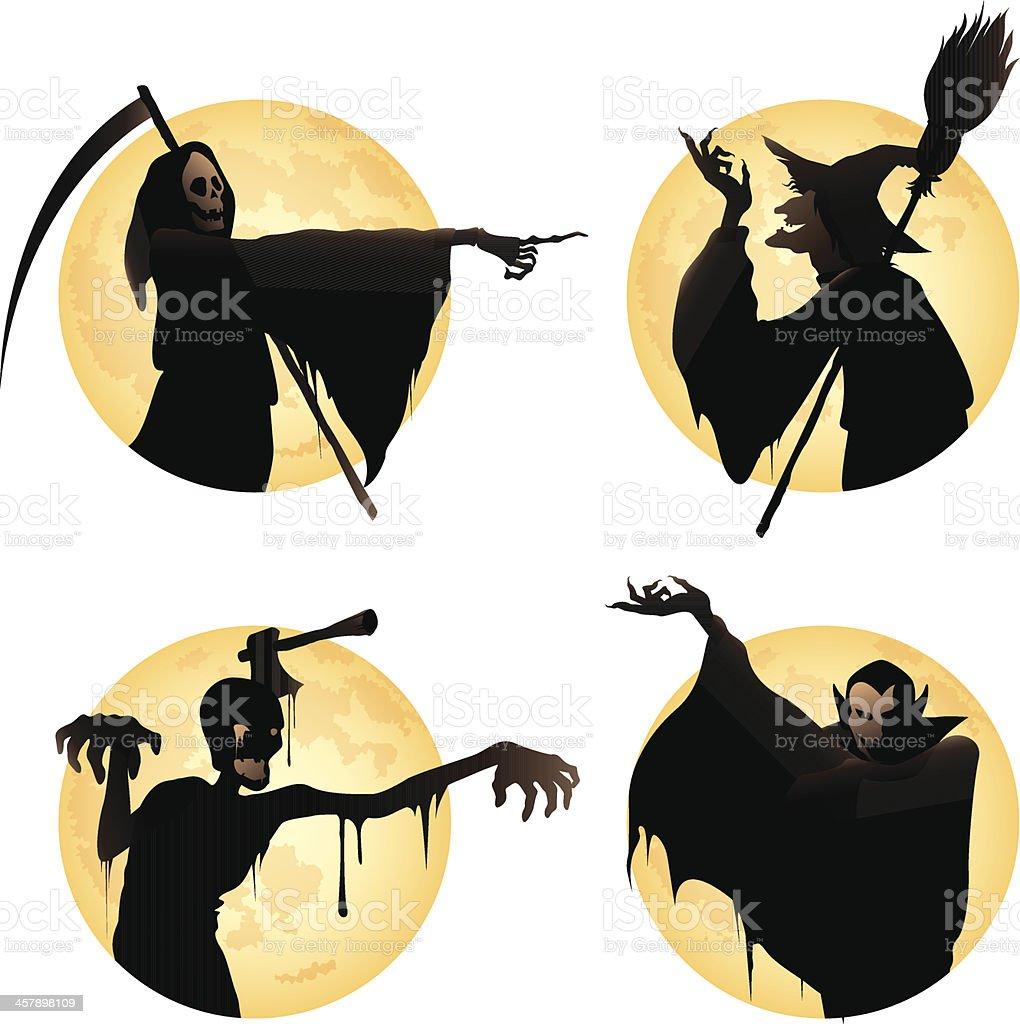 Halloween Monster Set vector art illustration