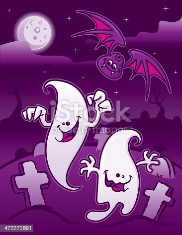 istock Halloween Monsters at the Graveyard 472272861