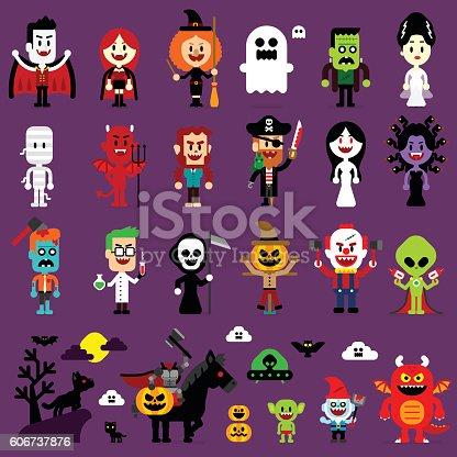 istock Halloween Monsters Mash Characters 606737876