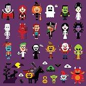 Halloween Monsters Mash Characters