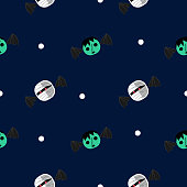 Halloween mummy and frankenstein seamless pattern. vector illustration for fashion textile print and wrapping with festive design.