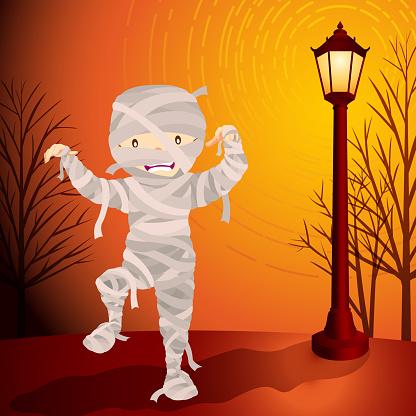 Halloween mummy costume