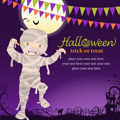 Halloween mummy party