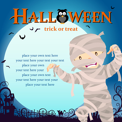 Halloween mummy trick or treat