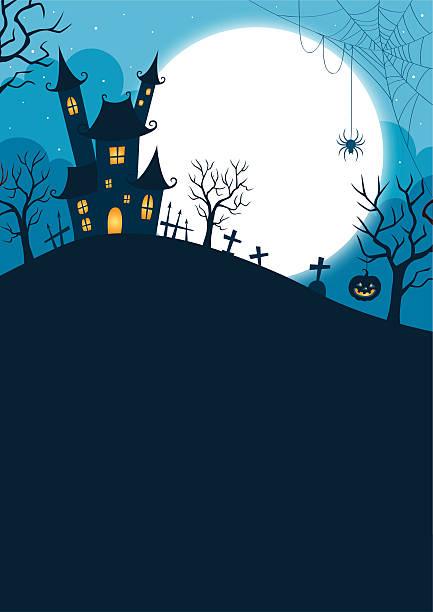 Halloween-Nacht Hintergrund – Vektorgrafik