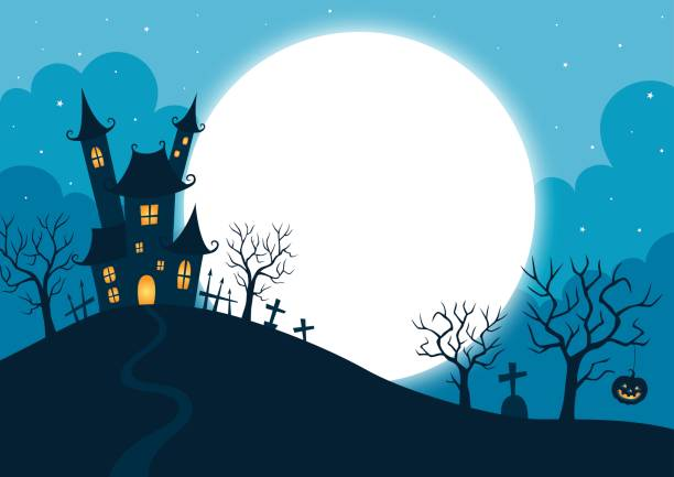 halloween night background - halloween stock illustrations, clip art, cartoons, & icons