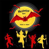 istock Halloween Night Design Concept 1344043183