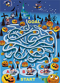Halloween night maze