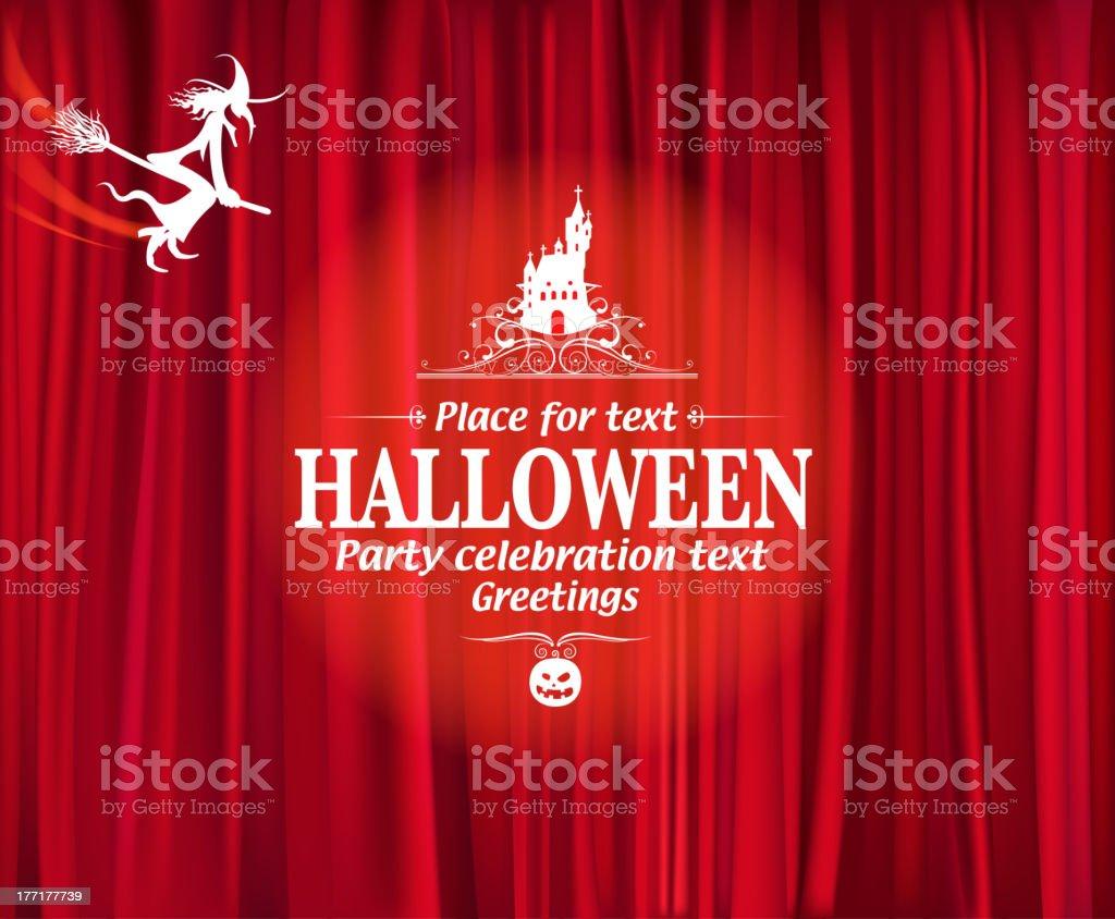 halloween night party royalty-free stock vector art