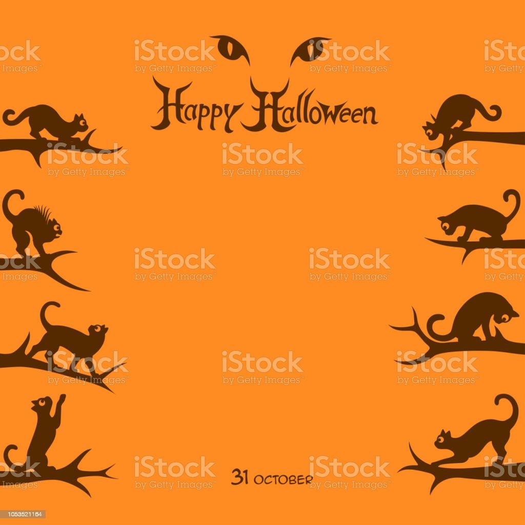 Halloween Night Poster vector art illustration