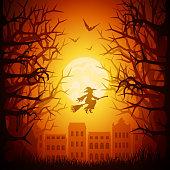 Halloween night town
